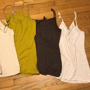 CREAM STRIPE Spring Earth Tone -Emma & Sam Tank-LF